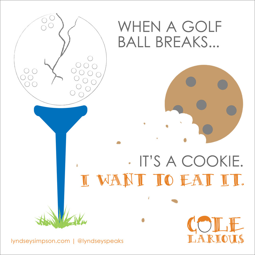 Colelarious Vol. 3  Golf Ball Cookie