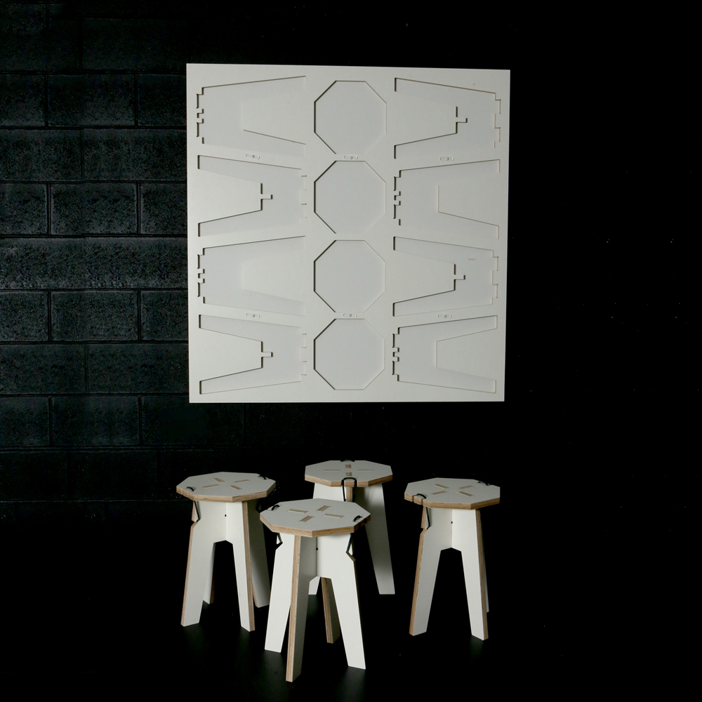 4 Stool Panel