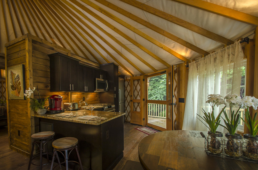 Yurt Kitchen Area