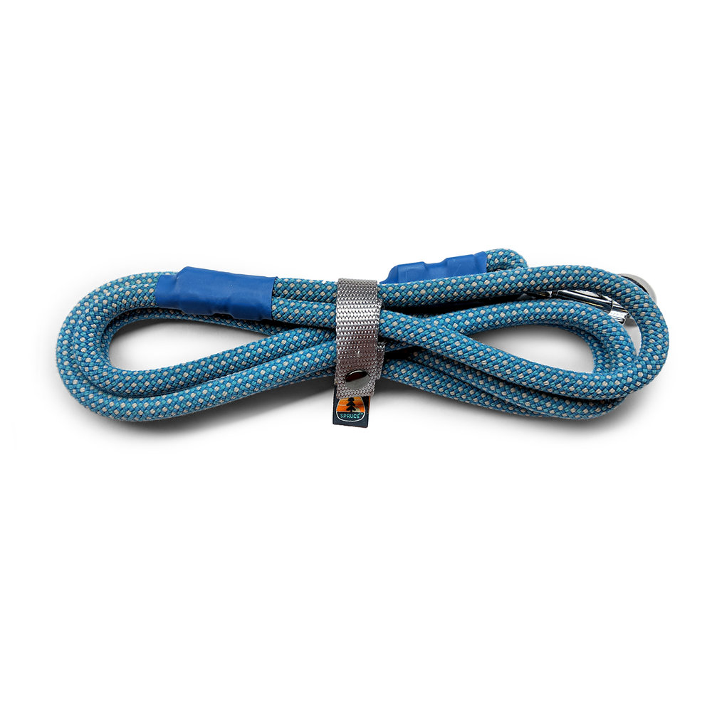 RECYCLED ROPE LEASHES - A better use for old ropes.This dog leash is recycled from professional climbing rope from Ascend Pgh, so you can feel good walking your dog in style while keeping material out of landfills. Because the rope is retired from an indoor rock climbing gym, it has a nice, soft feel in your hands.