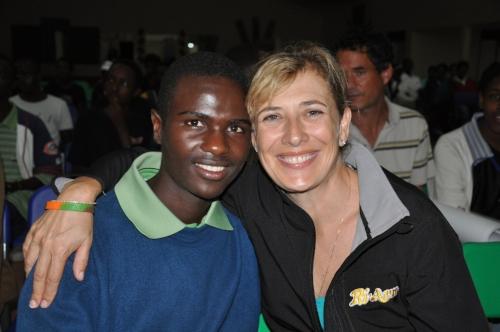 Emmanuel with Village founder, Anne Heyman