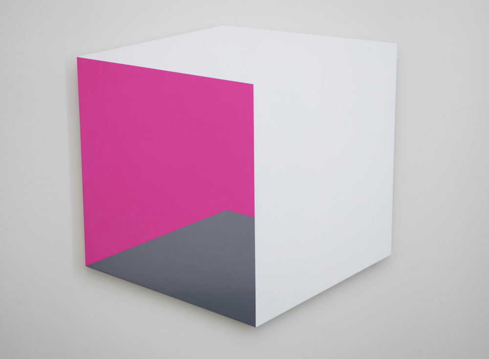 Pinkside 2014 Acrylic on panel 37.5 x 35 in / 95 x 89 cm