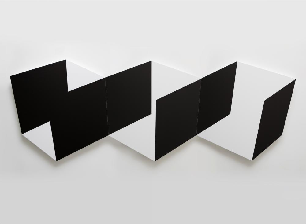 Four Black Walls 2014 Acrylic on canvas 92 x 30 in / 233 x 76 cm
