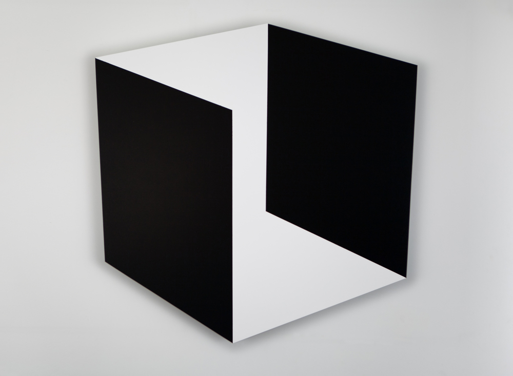 Black and White Space 2014 Acrylic on pane 36 x 36in (92 x 92cm)