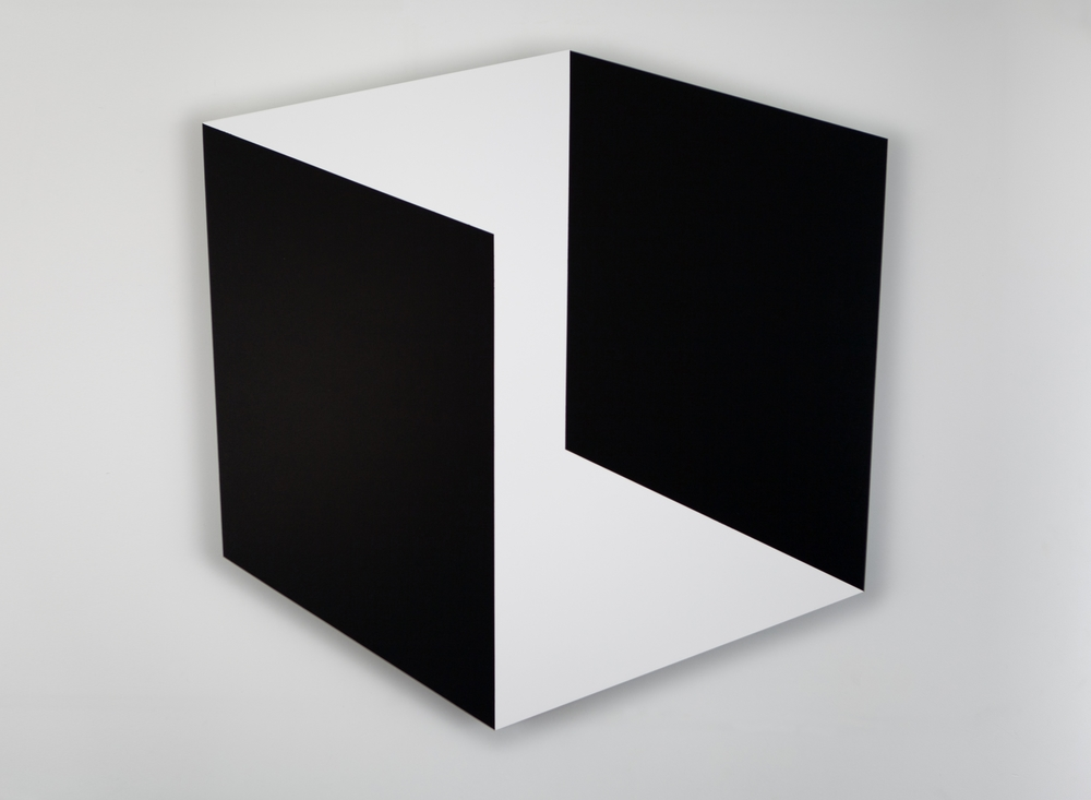 Black and White Space 2014 Acrylic on panel 36 x 36 in (92 x 92 cm)