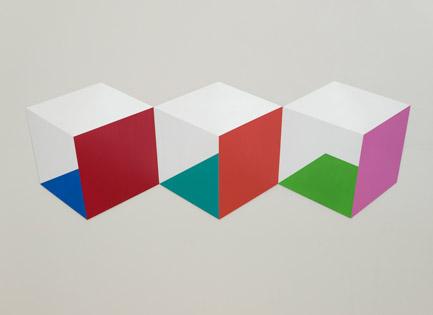 Triplets  2014 Acrylic on panel 62 x 22 x 2 in (158 x 56 x 5 cm)