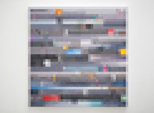 In Focus  2013 Acrylic on canvas 36 x 36 in / 152.4 x 152.4 cm
