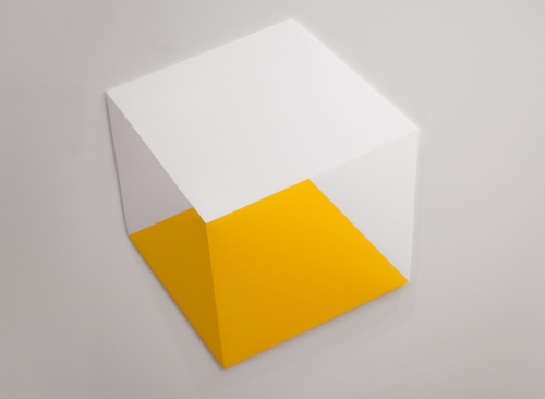 Yellow Below 2014 Acrylic on panel 19x 20 x 2 in (48 x 51 x 5 cm)