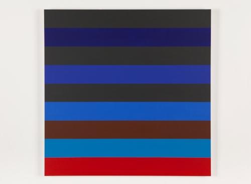 Nine Stripes #3  2014 Acrylic on canvas 36 x 36 in / 152.4 x 152.4 cm
