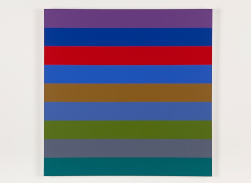 Nine Stripes #1  2014 Acrylic on canvas 36 x 36 in / 152.4 x 152.4 cm