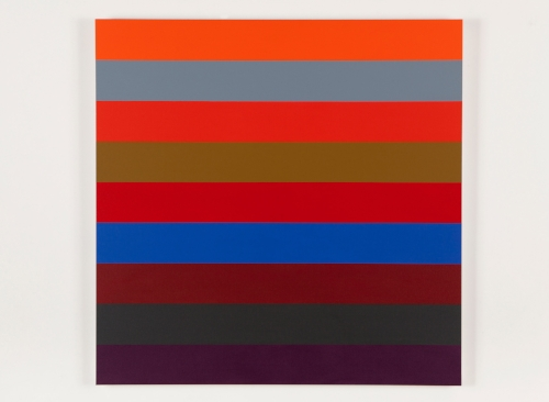 Nine Stripes #2 2014 Acrylic on canvas 36 x 36 in / 152.4 x 152.4 cm