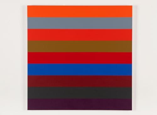 Nine Stripes #2  2014 Acrylic on canvas 36 x 36 in / 152.4 x 152.4 cm