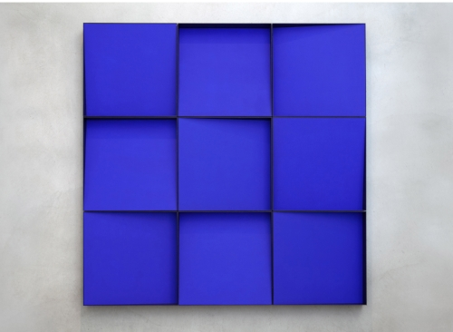 Ocean Blue  2014 Edition of three Acrylic on panels Nine boxes, each is 19 x 19 x 4 in. (total size: 57 x 57 in)