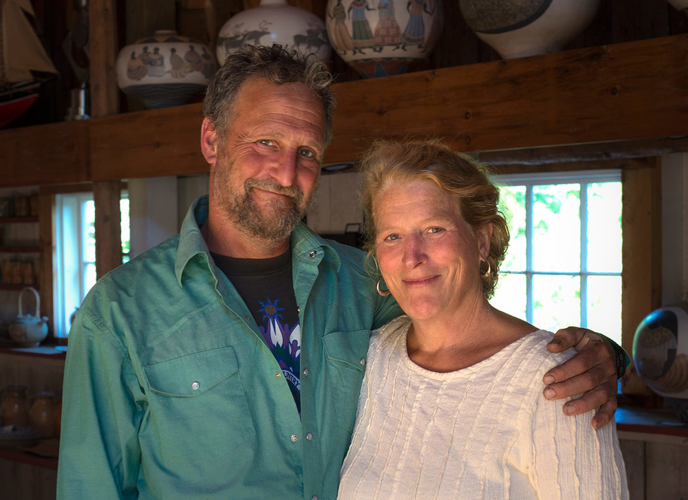Eric Ziner and Missy Greene, artists, owners, and operators of Yellow Birch Farm