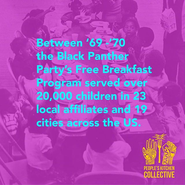 This is why we cook! This Saturday People's Kitchen Collective Free Breakfast honoring the legacy of the Black Panther Party for Self Defense. . Oct 13th 10am-12pm DeFremery/Little Bobby Hutton Park corner of 18th and Adeline West Oakland. . #lifeisliving #peopleskitchencollective #youthspeaks #freebreakfast #survivalprogram #oakland #westoakland #blackpantherparty