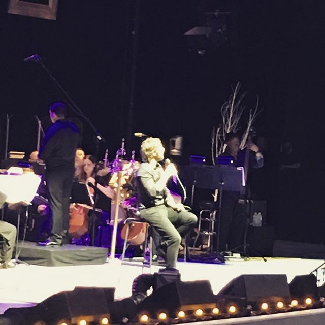 Performing with Josh Groban