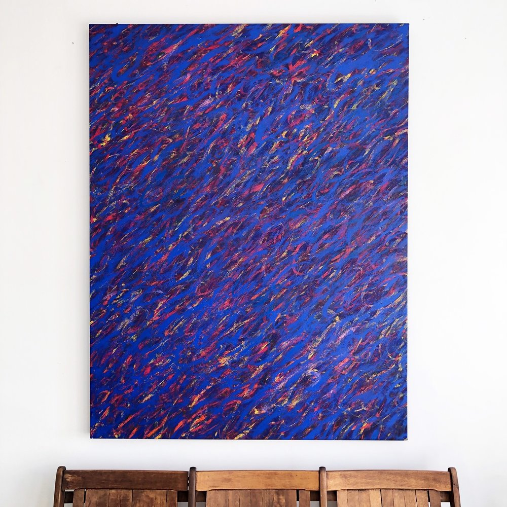 "Freedom , 60x46"" Acrylic on Canvas"