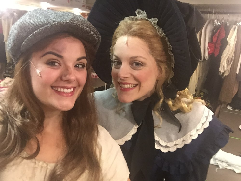 Backstage with Kaylee Harwood during Les Miserables