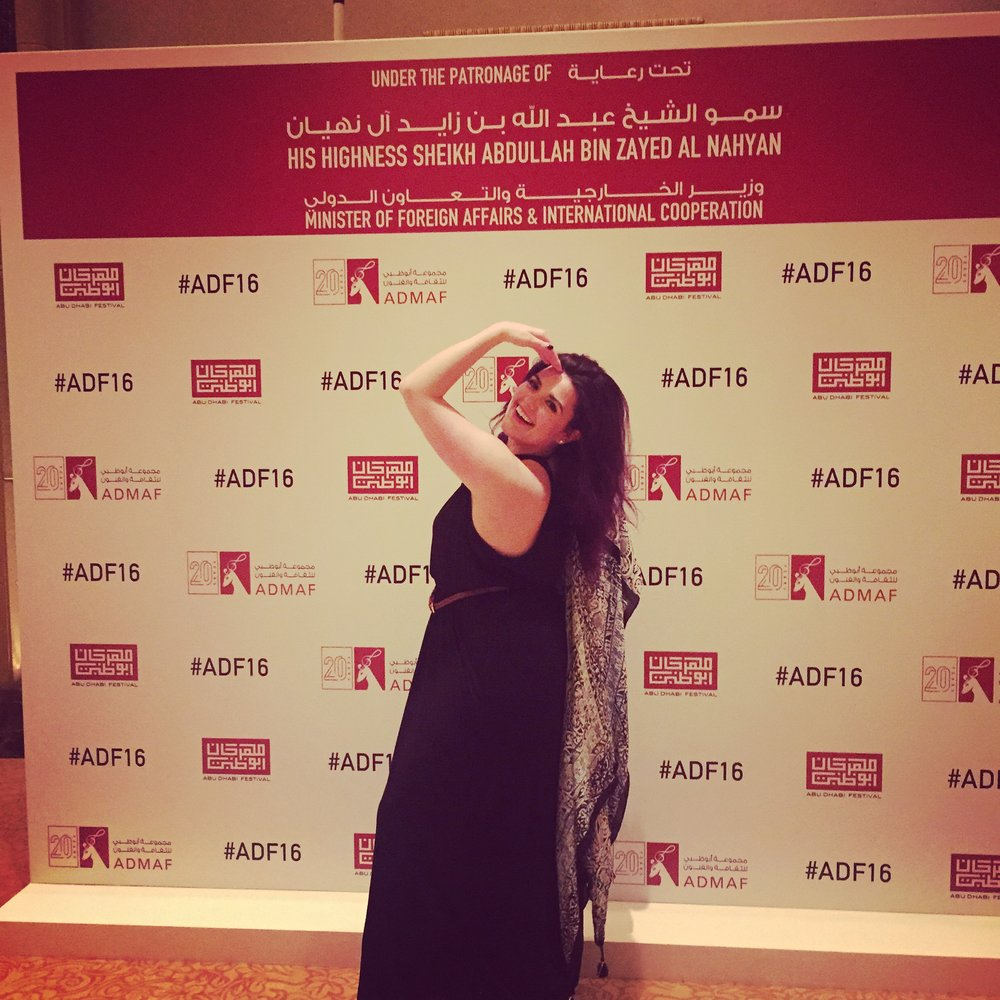 At the Abu Dhabi Arts Festival