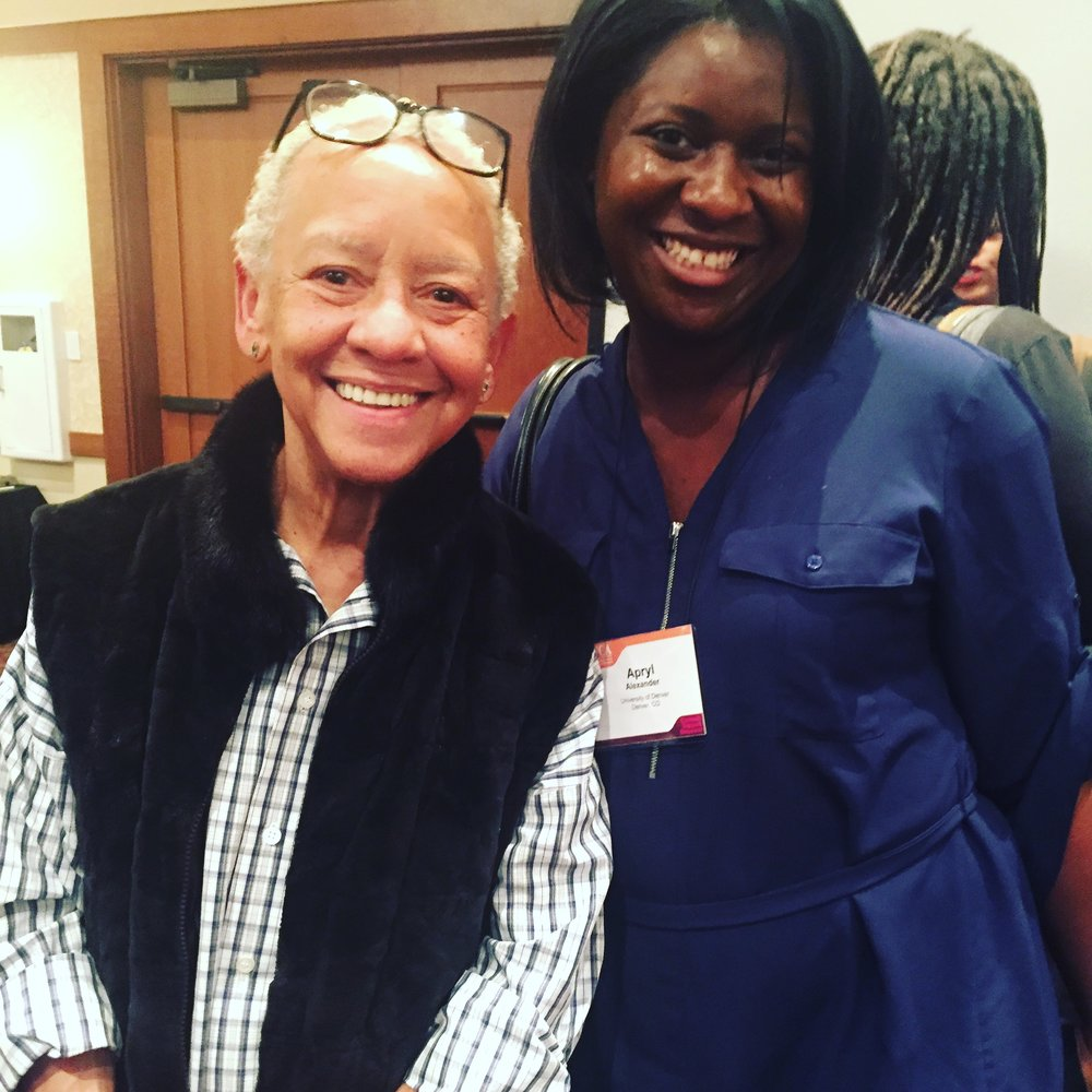 Dr. Alexander with world-renowned poet and author and Virginia Tech University Distinguished Professor Dr. Nikki Giovanni!