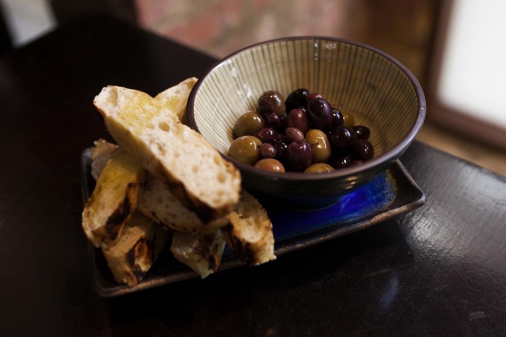 Olives & Turkish bread [V] /$13