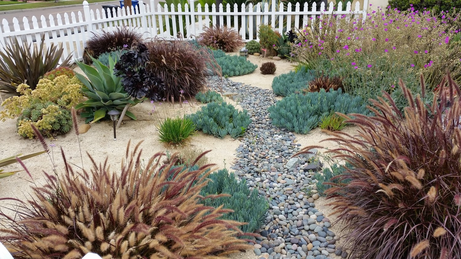 river rocks entry garden. Entry #7 We Had A Grass Lawn In The Front Yard. When Designed This, Looked For Water Conserving Plants But Also That Would Flower And Attract River Rocks Garden