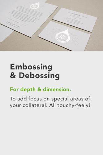 embossing & de-bossing