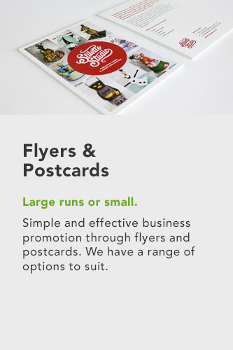 flyers & postcards