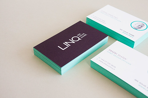 Edge Painting - Next level colour.For something a little different, why not try edge painting your next business cards or invites?