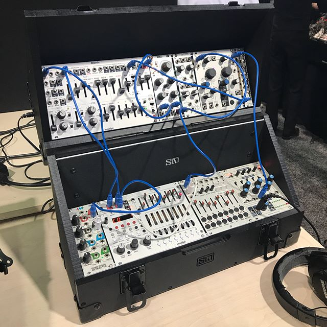 Step 1: #customization of your space  Step 2 (swipe): #portability grab & go whenever  Wanna play, pack & go for yourself? Try it out at A19  #namm #namm2018 #eurorack #skeinmodular #namm2018synth #synth #modularsynth