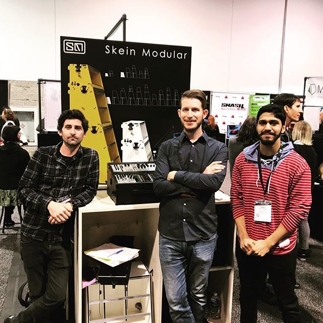 A final hello from the #skeinmodular team. We had a great time here at #namm2018 , thank you for all the support  #nammshow #nammshow2018  #namm #eurorack #modularsynth #synth #eurorackmodularcase #synthgear #modularsynthesizer