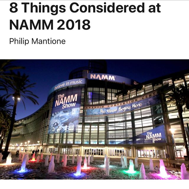Thanks to #proaudiofiles and Phillip for the mention! Truly grateful for the recognition  #namm2018 #namm #modularsynth #synthesizer #skeinmodular #nammshow2018 #eurorackmodularcase #eurorack #electronicmusic
