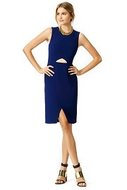 BCBGMAXAZRIA Cobalt Oblique Dress