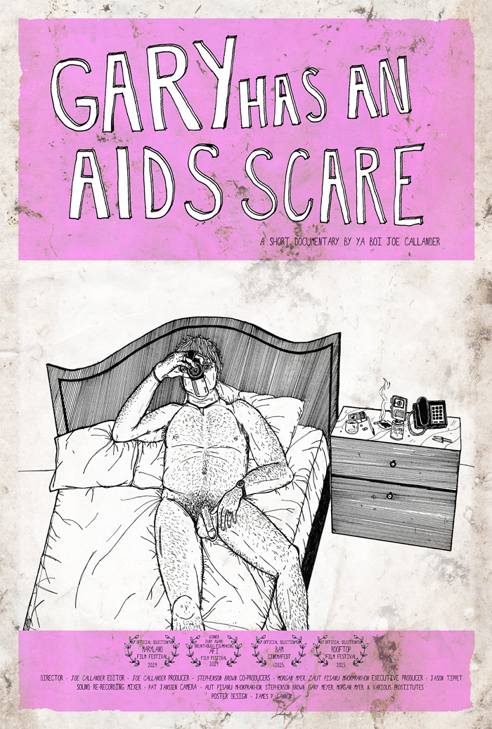 """Gary has an AIDS Scare"" movie poster"