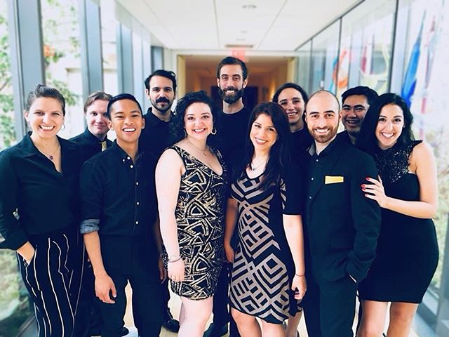 We were so happy to get to perform and facilitate an a cappella workshop at a lovely Bat Mitzvah! Mazel tov Lauren!! #echoacappella