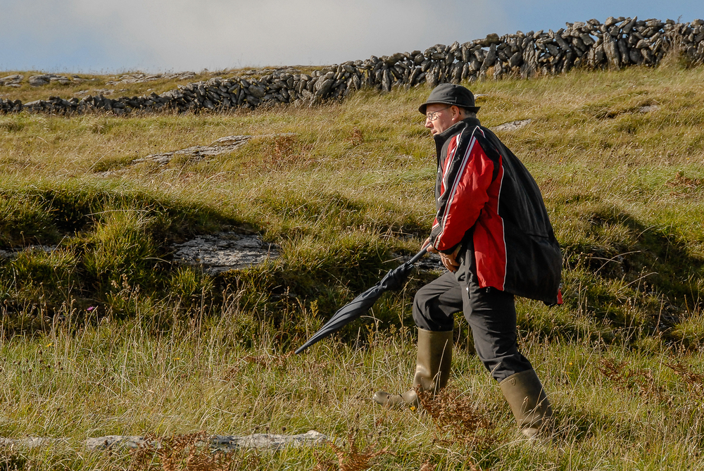 County Clare farmer Patrick Nagle leads walks on his Burren upland land where cattle graze in the wintertime.