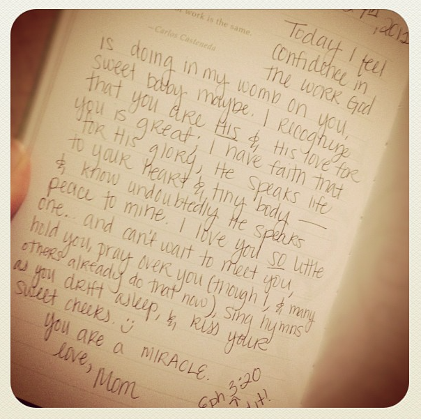 An excerpt from the journal I kept for Micah while I was on bedrest. To be perfectly honest... reading this now is still painful, fully aware that the life the Lord was speaking into my little one wasn't for this world. But even still... He is faithful. And I still hope for all those things when we are reunited someday. <3