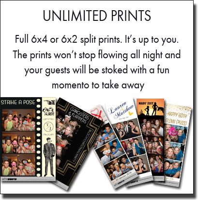 Unlimited fun photo booth prints and strip prints will entertain your guests all night. Sydney photo booth hire.