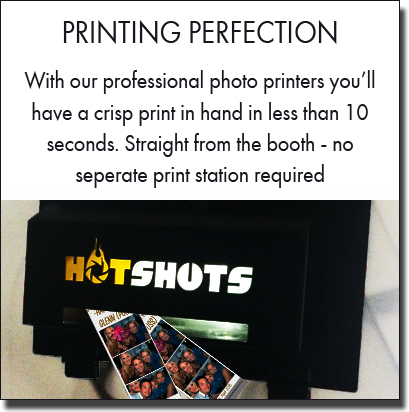 Professional photo printers produce high quality photo booth prints. Sydney photo booth hire.
