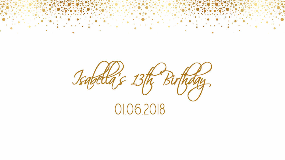 Isabella's 13th Birthday