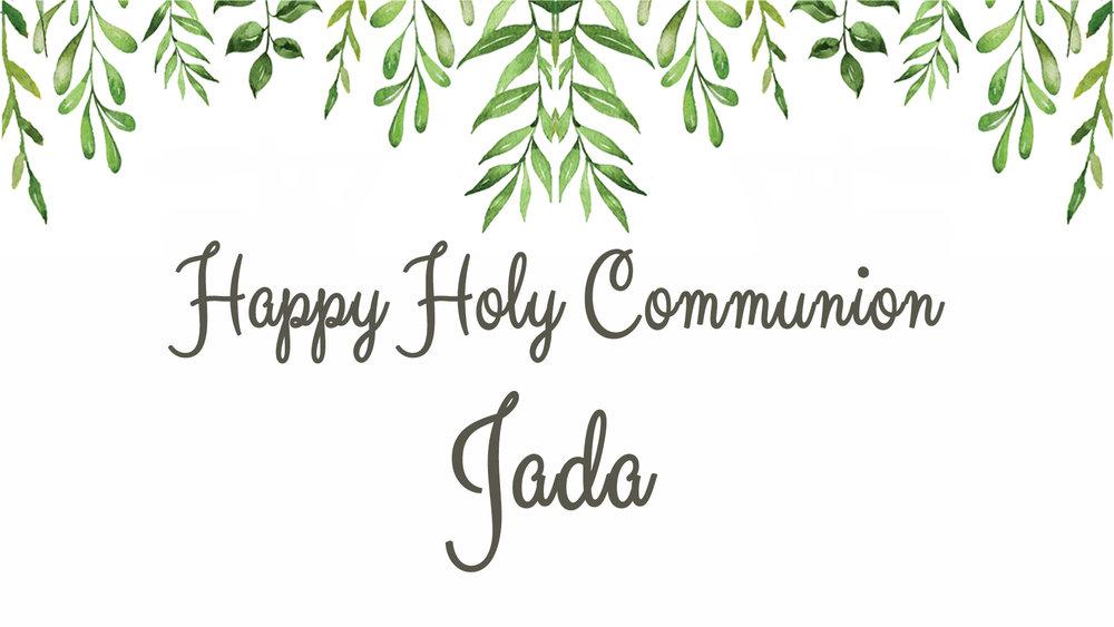 Jada's Holy Communion
