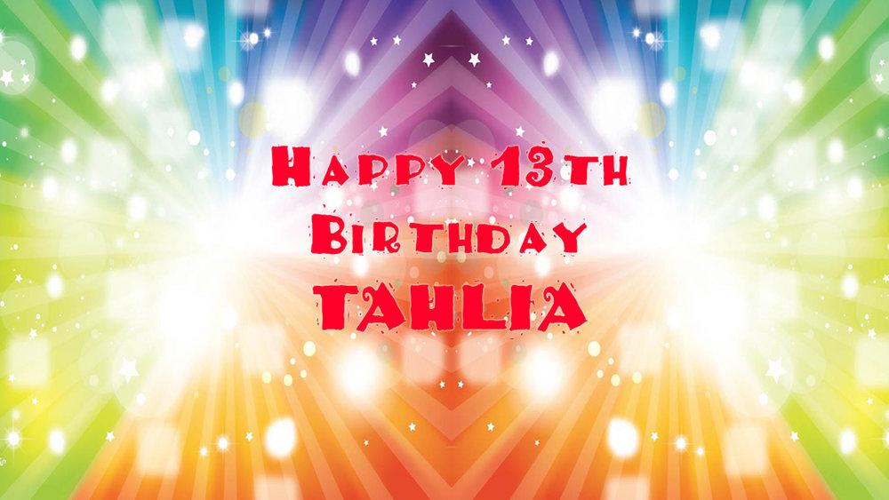 Tahlia's 13th Birthday