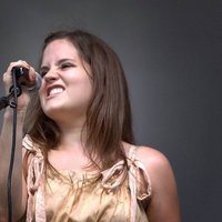 Amber Pierce of The Vineyard Band sings at The Yellow Daisy Festival Stone Mountain Park GA