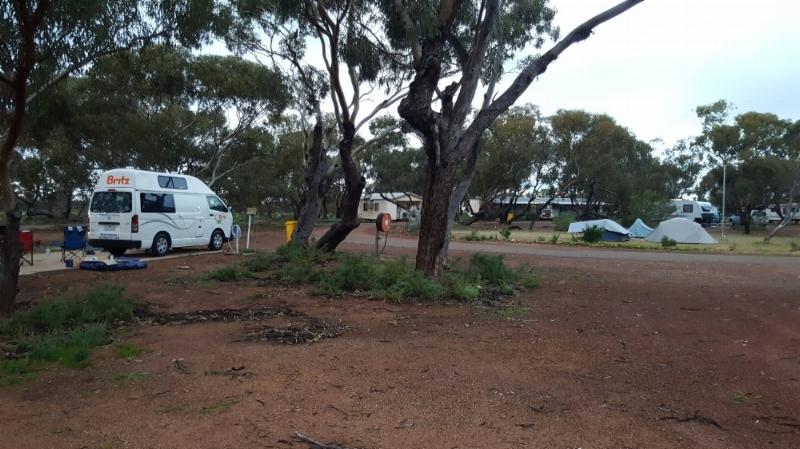 Campervan and Tents at  Perenjori Caravan park