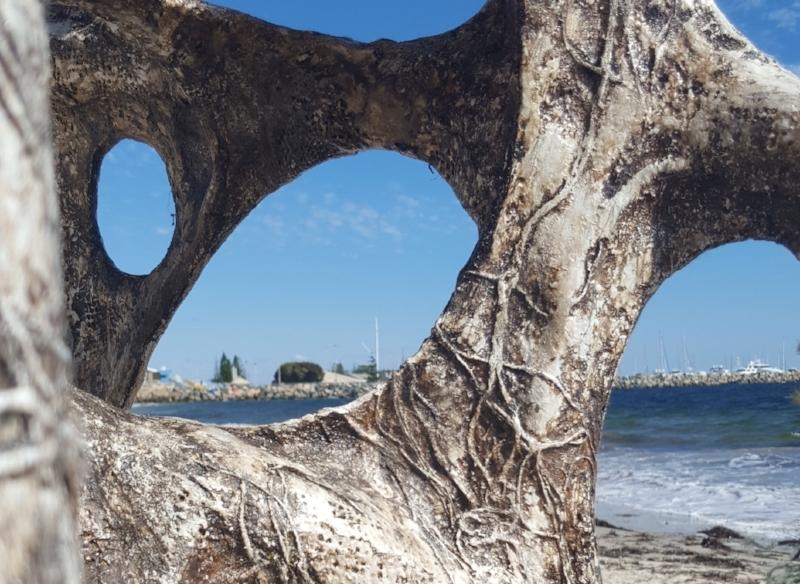 Portal by John Grono. Art installation on Bathers Beach, Fremantle, WA