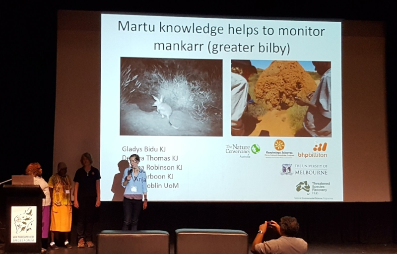 Presentation on using Martu traditional owner knowledge to to monitor mankarrs.