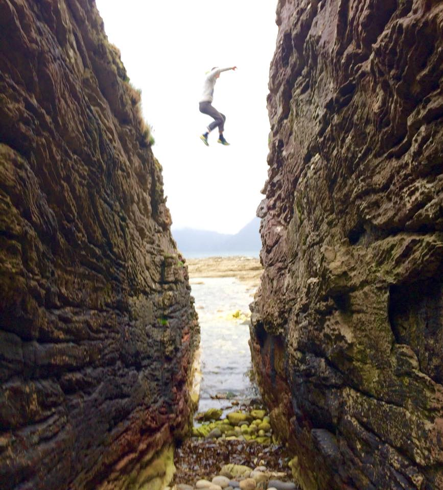 Messing around at Elgol. Photo: Libby Peter.