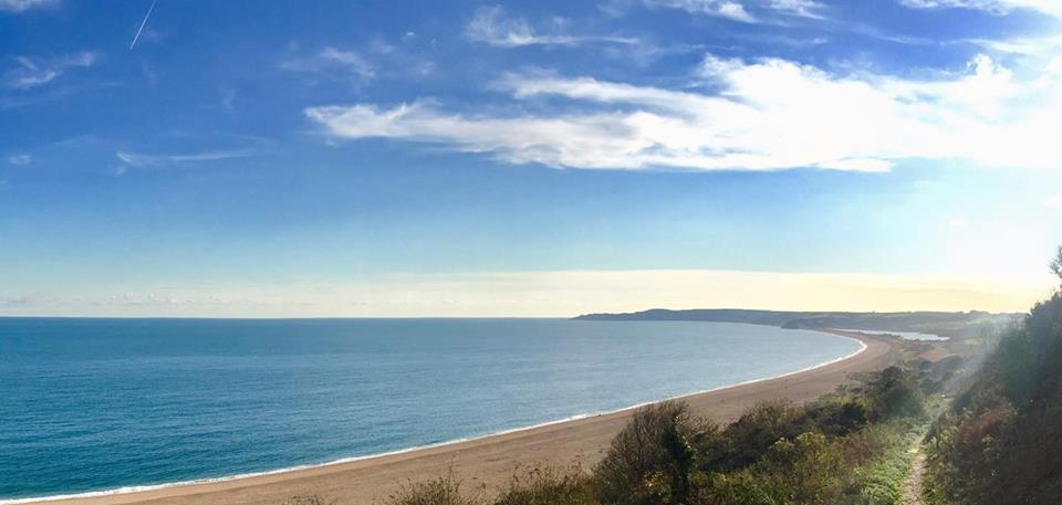 Slapton Sands - seeing that much flat ground is a blessed relief!
