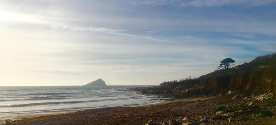 Wembury beach and Mew Rock
