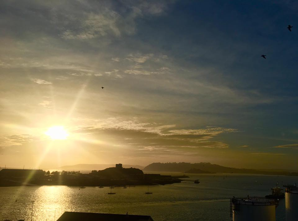 Sunset from the Plymouth Hoe